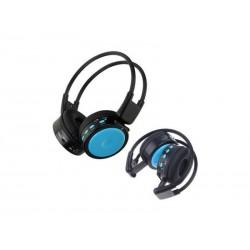 FONE BAK BK-375 - COM MP3 - FM - CARTAO SD - AZUL