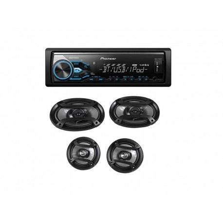 RADIO CAR PIONNER MXT-X3869BT - USB - BLUETOOTH - KIT