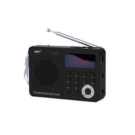 RADIO MIDI MD-6026UTF /MP3/USB/SD NEGRO