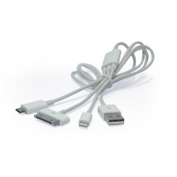 CABLE USB/IPHONE4+SAMSUNG/IPH.5/BK-23USB