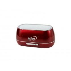 SPEAKER MIDI MD-155BTH FM - MICRO SD - BLUETOOH - VERMELHO