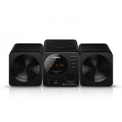 MINI SYSTEM TOSHIBA TY-ASW81 - USB - BLUETOOTH - CD - PRETO