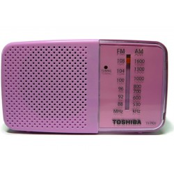 RADIO TOSHIBA TX-PR20 - AM/FM - ROSA