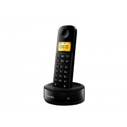 TELEFONE SEM FIO PHILIPS D1301B - 6.0 - BIVOLT - 1 FONE