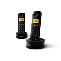 TELEFONE PHILIPS D1302B - 6.0 - 2V - 2 TELEFONES