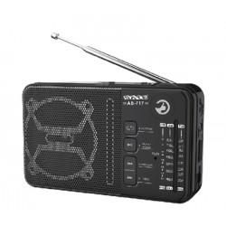 RADIO SATELLITE AS-717 - 03 BANDAS - AM FM - USB - RECARREGAVEL
