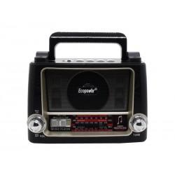 RADIO ECOPOWER - BATERIA - USB - CARTAO TF - BLUETOOTH - EP-100B