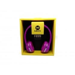 FONE MOX MO-B899 - BLUETOOTH - FM - MICROFONE - CARTAO SD - ROSA