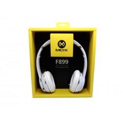 FONE MOX MO-B899 - BLUETOOTH - FM - MICROFONE - CARTAO SD - BRANCO