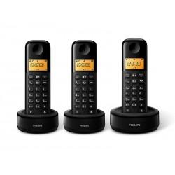 TELEFONE PHILIPS D1303B - BINA - 6.0 - 3 TELEFONES - BIVOLT