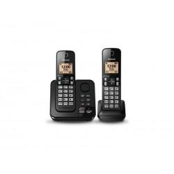 TELEFONE PANASONIC KX-TGC362 - COM BINA - PRETO - 110V - 2 UNIDADES
