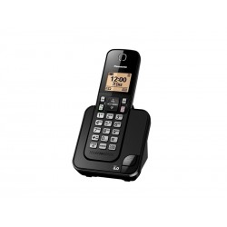 TELEFONE PANASONIC KX-TGC350 - COM BINA - PRETO - 110V - 1 UNIDADE