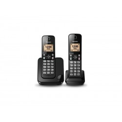 TELEFONE PANASONIC KX-TGC352 - COM BINA - PRETO - 110V - 2 UNIDADES