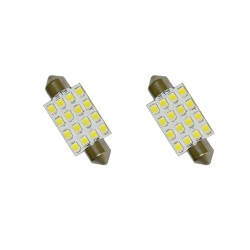 LAMPARA AUTOMOTIVA LED DE TETCHO 16 LED 2PIEZAS