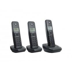 TELEFONE MOTOROLA500ID-3 - 3 TELEFONE - BINA - BIVOLT - PRETO