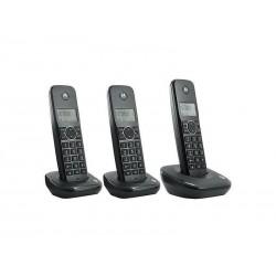 TELEFONE MOTOROLA AURI550 - 6.0 - BINA - 3 FONES - BIVOLT - PRETO