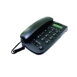 TELEFONE MOX COM FIO E BINA MO-TL283 - PRETO
