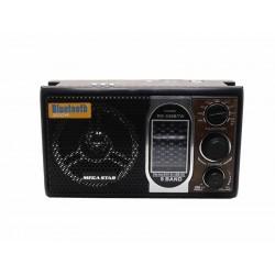 RADIO MEGASTAR RX-339 - 8 BANDAS - BLUETOOTH - SD - USB