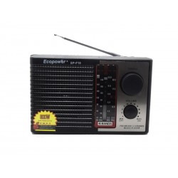 RADIO ECOPOWER EP-F10 - USB - RADIO AM-FM - SD