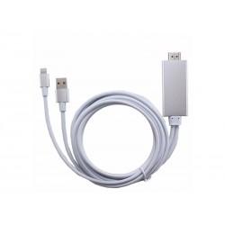 CABO HDMI PARA IPHONE 5-6-7-8 - GENERICO