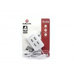 PC HUB MOX MO-US20 - 4 PORTAS USB - BRANCO