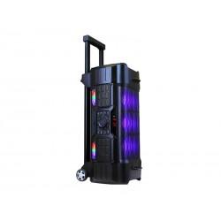 SPEAKER QUANTA SPB395 - MICROFONE - BLUETOOTH - USB - 15 PULGADAS - LED