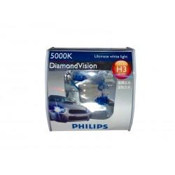 LAMPARA DIAMOND VISION PHILIPS H3 5000K