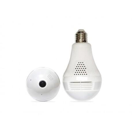 LAMPADA COM CAMERA PANORAMA - WIFI - 360