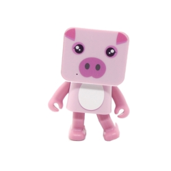 PARLANTE GOAL PRO DANCING - PIG ROSA - BLUETOOTH