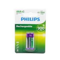 PILHA RECARREGAVEL PHILIPS AAA*2 900MAH