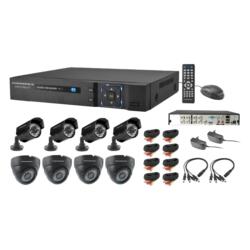 DVR POWERPACK DVR-CA088 KIT - 8 CANAIS - 8 CAMERAS - INTERNAS - EXTERNAS