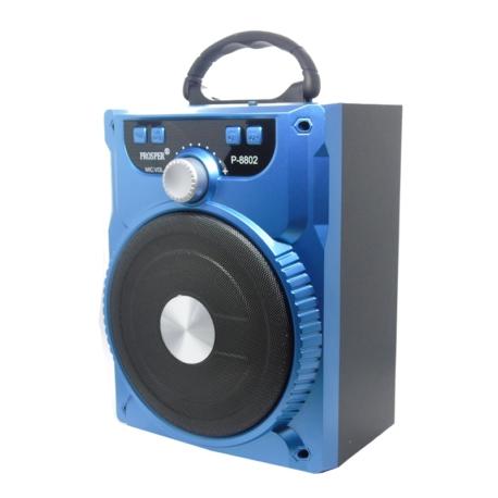 SPEAKER PROSPER P-8802 - SD - RADIO FM - CONTROLE - BLUETOOTH - USB