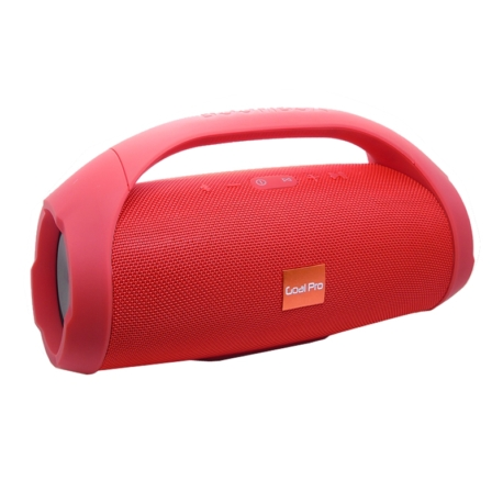 SPEAKER GOAL PRO BOOBOX - BLUETOOTH - USB - AUXILIAR - VERMELHO