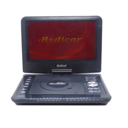 DVD PORTATIL RODICAR - RC-961 - 9 PULGADAS - TV - SD - GAMES - NEGRO