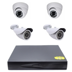 DVR SECURITY KIT - 4 CAMERAS - 4 CANAIS