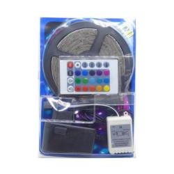 FITA LED - 5 METROS - 150 LEDS - 12V - FONTE - CONTROLE