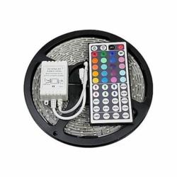FITA LED - 5 METROS - 300 LEDS - 12V - FONTE - CONTROLE - S2061