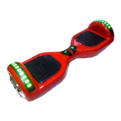SCOOTER STAR WHEELS - BLUETOOTH - LED - 6.5 POLEGADAS - VERMELHO
