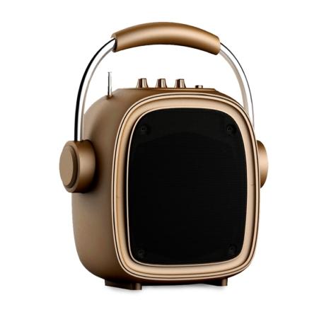 SPEAKER KOLKE KPM-258 - BLUETOOTH - USB - DOURADO
