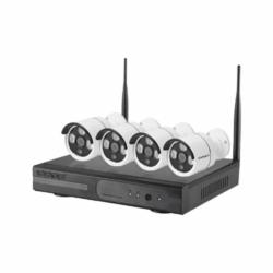 DVR SATELLITE KIT - A-IP101 - 4 CANAIS - 4 CAMERAS - HD - SEM FIO