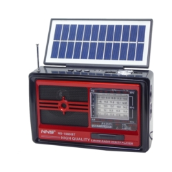 RADIO SATELLITE NS-1589BTS - AM -FM - USB - SOLAR - LANTERNA