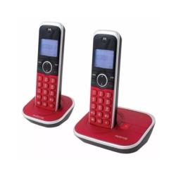 TELEFONE MOTOROLA GATE4800R-2 - BINA - 2 TELEFONES - BIVOLT - VERMELHO