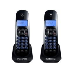 TELEFONE MOTOROLA M750-2 - BINA - 6.0 - 2 TELEFONES - BIVOLT - PRETO