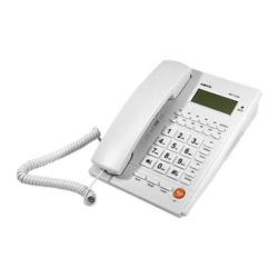 TELEFONE MOX COM FIO - BINA - MO-TL284 - BRANCO