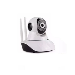 CAMERA IP SMART - HD - WIFI - 2 ANTENAS - V380 - BRANCO