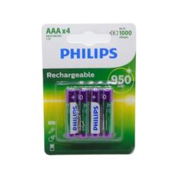 PILHA RECARREGAVEL PHILIPS - AAA4 - 950MAH - ORIGINAL