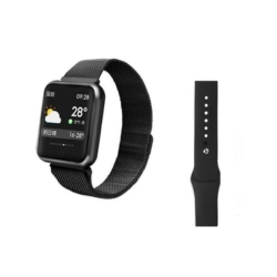 RELOGIO FITNESS MD-P68PLUS - PRETO - METAL - SILICONE