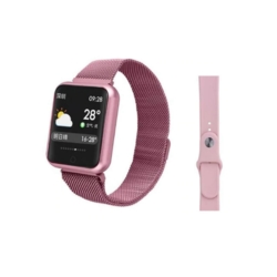 RELOGIO FITNESS MD-P68PLUS - ROSA - METAL - SILICONE