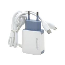 CARREGADOR ECOPOWER EP-7068 - UNIVERSAL - MICRO USB V8 / TIPO C- USB - BIVOLT