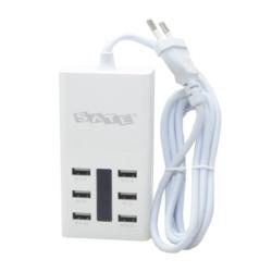 CARREGADOR USB SATELLITE - A-R12U - 6 PORTAS - BIVOLT - 7.2A